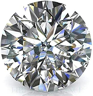Tushar Gems Unique Moissanite 0.50 Cent Round GH Color 5.00 mm Heart & Arrow Cut Excellent Lustre Diamond Loose Gemstone J...