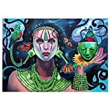 wyjhome 5D Diamond Painting Kits for Adults Full Drill Embroidery Paintings Rhinestone Pasted DIY PaintingWeibliche Maske Arts Crafts for Home Wall Decor