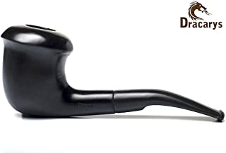 Dracarys Pipes Sherlock Holmes Style Wood Tobacco Smoking Pipe Unique Design w Pouch