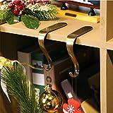 Demiawaking Ganci per Calze Natalizie in Metallo Appendi Calza Natale Portacalze Camino Decorazioni Natalizie (1 Pezzo)