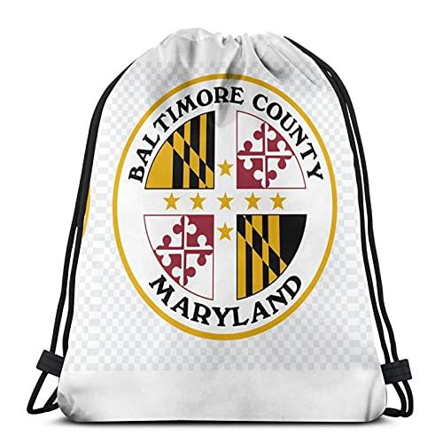 Maryland State Flag - Bolsa de deporte impermeable con cordón para gimnasio, bolsa de natación, bolsa de deporte para mujer y hombre, mochila deportiva unisex