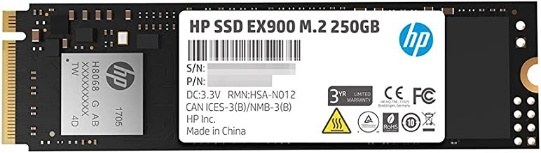 HP EX900 M.2 250GB PCIe 3.0 x4 NVMe 3D TLC NAND Internal Solid State Drive (SSD) 2YY43AA#ABC
