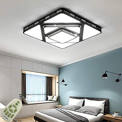 LED Lámpara de Techo 90W Interior Plafón Moderna LED de Techo Rectangular De Dormitorio Pasillo Cocina Sala Salón Comedor (Regulable 3000-6500K) [Clase de eficiencia energética A++]