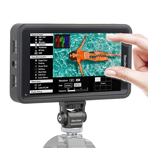Desview R5 Kamera Feldmonitor Touchscreen, 5,5 Zoll DSLR Field Monitor, 3D-Lut Externer Display Bildschirm Screen, HDR, 1920x1080, 4K HDMI Eingang/Ausgang für Canon Nikon Panasonic Sony