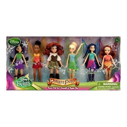 Disney The Pirate Fairy Exclusive 5 Inch Doll Faries Doll Set [Vidia, Iridessa, Larina, Tinker...