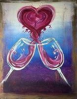 NC56 DIY Adult digital painting red wine glass digital oil paint children's painting tool set birthday wedding