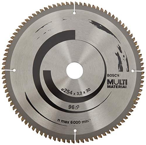 Bosch 2 608 640 451 - Hoja de sierra circular Multi Material - 254 x 30 x 3,2 mm, 96 (pack de 1)