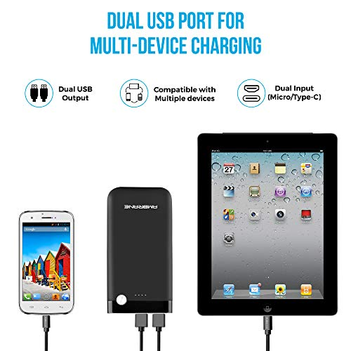 Ambrane 10000 mAH Lithium Polymer Power Bank with Micro/Type C Input for Android & iPhone (PP-11, Black) 4