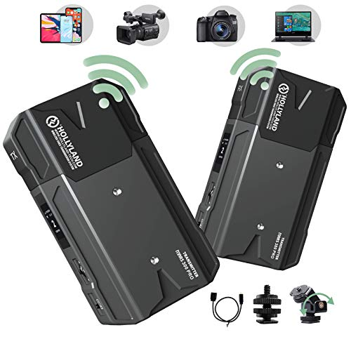 Wireless HDMI Loopout Video Transmitter and Receiver Kit, Hollyland-Mars-300-PRO-5G-Image-Transmission-System Support HD 1080P Real-time Monitoring for Vlog, Live Streaming, Multi-Camera Production