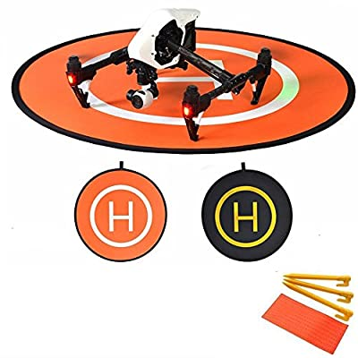 Flycoo 110cm 43inch Drone Landing Pad Foldable Helicopter Landing Parking Apron Collapsible Helipad Dronepad Launch Mat for DJI Mavic Pro / Spark / Phantom / Inspire etc