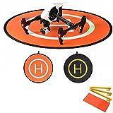 Flycoo 110cm Landing Pad Drone Hélicoptère Parking Tablier Décollage Atterrissage Hélisurface Pad Facile à Plier pour DJI Mavic 2 Pro / Mavic 2 Zoom / Phantom 3 4 Inspire Mavic Pro Spark