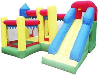 Castillo inflable Niño del Trampolín Gran Castillo Hinchable De Familia De Los Niños Castillo Diversión Slide (Color : Yellow Blue Green, Size : 300 * 300 * 210cm)