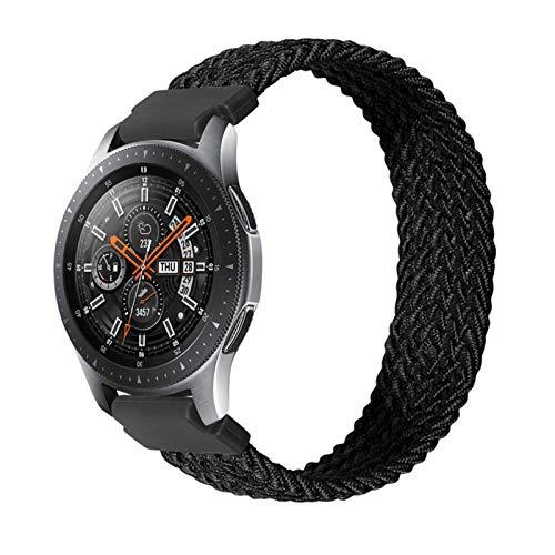 LWHAMA Lwwhama 22 mm 20 mm Sola de la Banda de Reloj de Bucle Solitario para Samsung Galaxy 3 Watch 42 46mm Gear S3 Active2 Clásico Relojamiento rápido Nylon Brayed Band Strap Strap