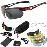 ONVAYA® Polarisierte UV400 Sportsonnenbrille 9 Teilig rot