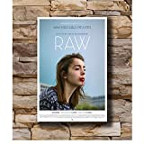 DNJKSA Raw Movie 2016 Poster Art Print on Canvas HD Art Poster Pictures for Living Room Pictures Decorative Picture -50x75cm No Frame