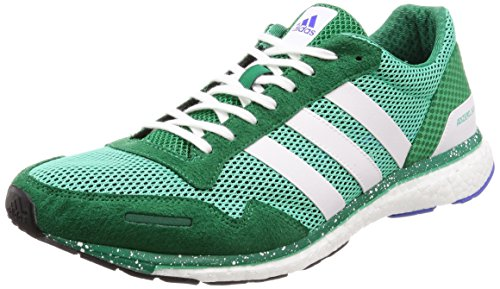 adidas Adizero Adios M, Zapatillas de Cross Hombre, Verde (Hi-Res Green S18/ftwr White/Bold Green Hi-Res Green S18/ftwr White/Bold Green), 49 1/3 EU