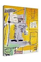 《灰》ジャン=ミシェル・バスキア帆布の絵 ウォールアートキャンバスポスターとプリント 居間の家の装飾のための写真 寝室の家の装飾のためのキャンバスの写真 ポスター ( 70x105cm(28x41inch)、額装)