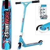 Deuba Patinete para Acrobacias Stunt-Scooter StuntWorx Azul de Aluminio...