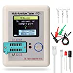 Pocketable Multifunctional TFT Backlight Transistor, Kecheer LCR-TC1 Full Color Screen Graphic Display Multi Tester for 2 Diodes Capacitor Resistor Transistor NPN PNP Lithium Battery Voltage Detection
