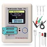 Transistor Tester, KKmoon LCR-TC1 Écran Graphique Couleur Testeur de Transistor NPN Transistor PNP Canal N Canal P FET Diode Résistance Inductance Capacité SCR Batterie Détecteur de Mesure Automatique