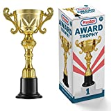 Prextex 10-Inch Gold Cup Award Trophy for Trophy Awards and Party Celebrations, Award Ceremony and Appreciation Gift
