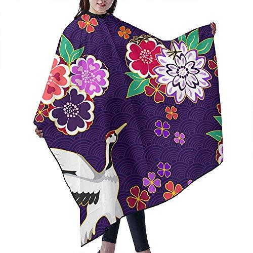 55 X 66 Inch Professionele Haar Salon Kapsel Schort met Telescopische Snap Sluiting voor Haarsnijden, Decoratieve Kimono Patroon Vector Afbeelding