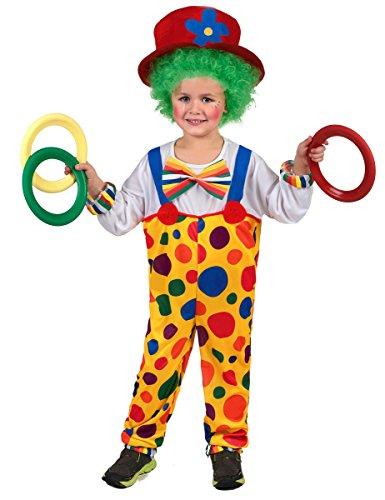 Generique Déguisement Clown Enfant 4 à 6 Ans