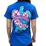 Southern Attitude Flower Turtle Royal Blue...