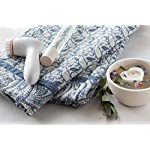 "Flaxbel Linen Flax Organic Bath Towel Esmeralda Blue 32"" X 59"" - Soft Quick Drying Luxury Bath Towels - Enjoy at Home, Gym, Spa, Yoga and When Traveling - Large Bath Towels"