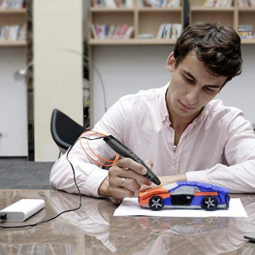 3D Drucker Stift – Aerb DIY Scribbler 3D Stereo Scopic Druck Stift mit LCD-Bildschirm, intelligente Temperaturregelung, kompatibel mit ABS und Pla Filament 1,75 mm, Anzug für Kinder, Erwachsene und Künstler - 7