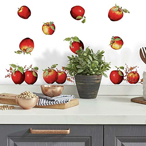 RoomMates RMK1570SCS Rustic Country Apples Peel and Stick Wall Decals