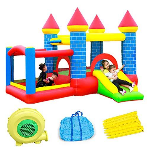 Castillo Inflable para Niños, Trampolín Inflable, Castillo De Gas para Niños Pequeños, Castillo para Juegos Al Aire Libre, 300X275x210cm