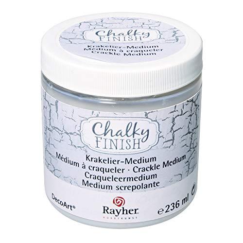 Rayher 38879000 Chalky Finish Krakelier-Medium, farblos, Dose 236ml, für antike Reißeffekte, Reißlack-Technik, für Vintage- und Antikeffekte, Crackle Medium