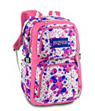 Jansport Merit Backpacks - Vanilla Ice White/Coral Sparkle Gypsy Love