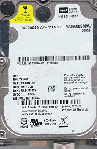 WD5000BMVW-11AMCS2, DCM HHOTJCN, Western Digital 500GB USB 2.5 Disco Duro