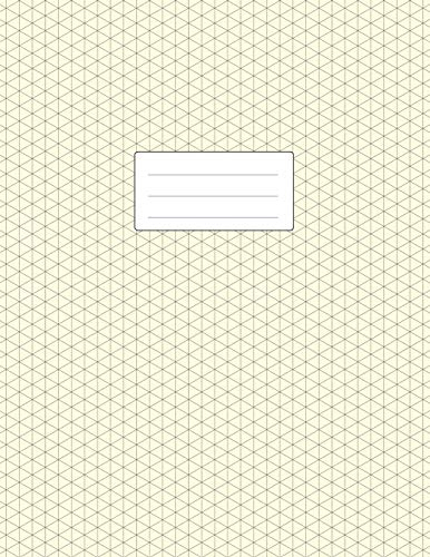 Isometric Grid Notebook - 3D Graph Paper: Large Size 8.5x11 | 110 Pages | Soft Cover Book | For Technical Drawing, Perspective Art, 3D Design
