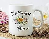 Worlds Best Tia Mug, Tia Gift, Mother's Day Gift for Tia, Tia Mug, Mother's Day Mug, Tia Coffee Mug, Best Tia Ever, Best Tia Mug Gift Idea