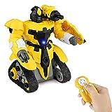 Baztoy Ferngesteuertes Roboter Spielzeug für Kinder Jungen Mädchen Früherziehung Bau
