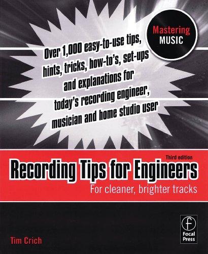 Hal Leonard grabación consejos para ingenieros–3ª Edición