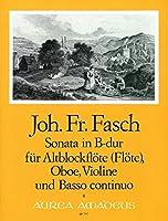 FASCH J.F. - Sonata en Sib Mayor para Flauta de Pico Alto, Oboe, Violin y Piano (Pauler/Hess)