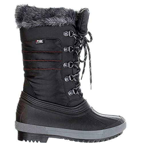 PAJAR Women's Debby Waterproof Nylon Winter Boots, 9, Black