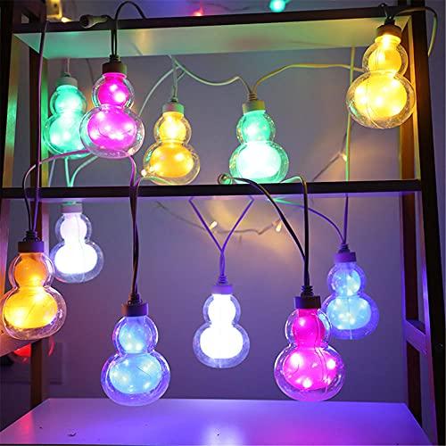 Eid Mubarak Decoración, Luces de cadena, Lámpara de bricolaje LED, Calabaza Ornamento LED musulmán para el Festival Inicio Dormitorio Dormitorio Cumpleaños 2 METER 6LED