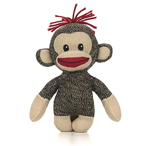 Plushland Original Curioso Brown Sock Monkey, Hand Knitted, Stuffed Animal Toy Gift-for Kids, Babies, Teens, Girls and Boys Baby Doll Present Puppet 6 Inches