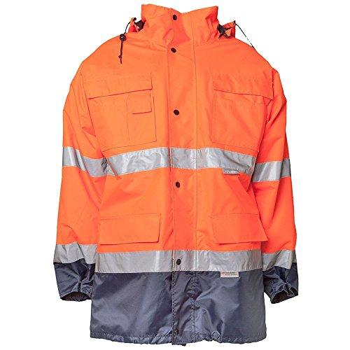 Planam Parka Warnschutz Größe L in orange/marine, 2056052