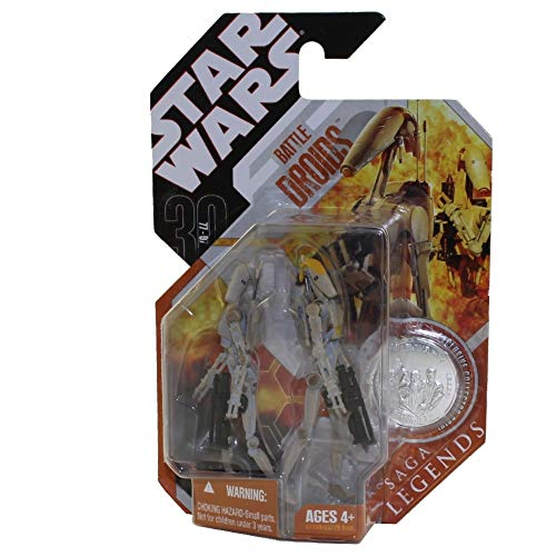 Star Wras Saga Legends Battle Droids Variant Gray and Tan Paint
