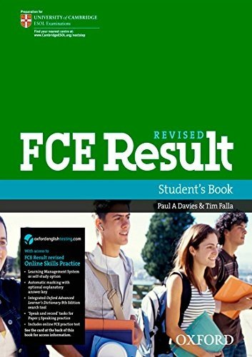 Fce Result Student Book And Online Skills Practice Pack Pap Psc Edition By Davies Paul A Falla Tim 2011 Paperback