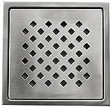 Aquieen Stainless Steel Bathroom Floor Water Drain Grating (Floor Jali) (Gratings Plain, Daisy)