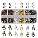 TXErfolg, set per creazione di gioielli con chiusura a moschettone, accessori per la fabbr...
