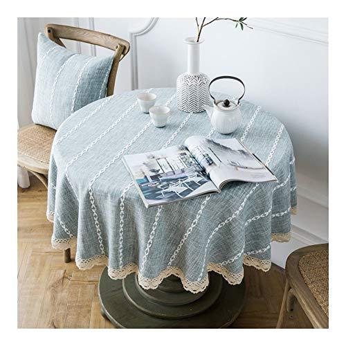 Tafelkleed voor het huishouden, rond, tafelkleed, waterdicht, stofdicht, voor privégebruik voor tuintafel, decoratie, gemakkelijk te reinigen, waterdicht en vuilafstotend. 100cm 1 exemplaar