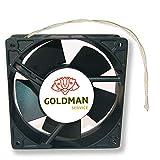 Ventola fan assiale per cassette camini inseribile alta temperatura di pale metalliche universale 120x120x38 mm.